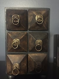 Vintage jewelry wooden box