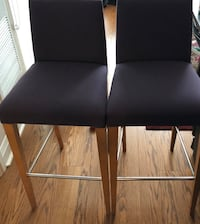high end fabric, metal and wood table height bar stools $30 for both Toronto, M8Z 0C6