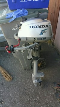 white and gray honda outboard motor Vancouver