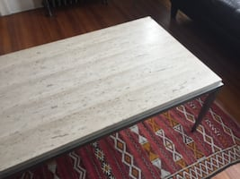 Marble top coffee table and side table