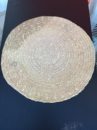Round brown wicker table mat Alexandria, 22311