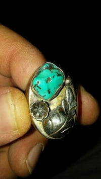 silver-colored and green gemstone ring Sierra Vista, 85635