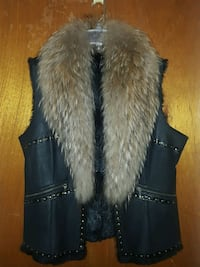Womens Fox Fur Colar Vest (MED)
