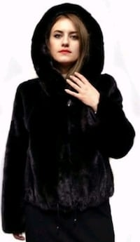 Stylish Faux Fur Mink Hooded Coat Silver Spring, 20904