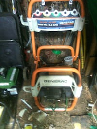 white and orange Generac pressure washer Odessa