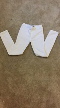 two white and gray pants