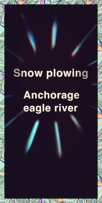 Snow plowing Anchorage