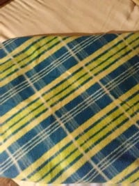 blue, white, and green plaid textile Baxter, 38544