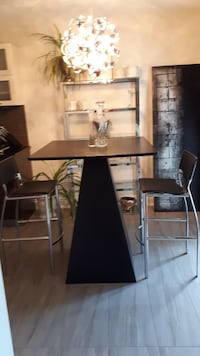Black bistro table and chairs Ottawa, K1G 5S8