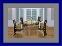 Glass dining table with 4 chairs Upper Marlboro, 20772