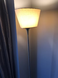 Brushed Steel Floor Lamp with a dimmer Switch. (Brand New Condition)