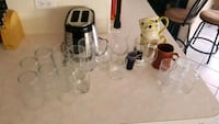 Various glasses, and cups... Tucson, 85747