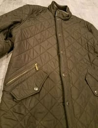 Men's BARBOUR Snap Quilted Long Jacket Size XL