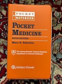 Mass Gen Pocket Medicine 6th Ed Kensington, 20895