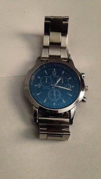 round silver chronograph watch with link bracelet San Antonio, 78220