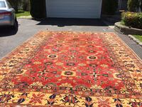 brown, red, and white floral area rug Oyster Bay, 11801