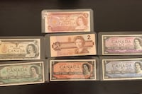 Old Canadian Currency (I have 100s of these older notes)  3764 km