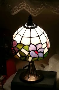Tiffany style leaded handmade stained glass lamp Sanger, 76266