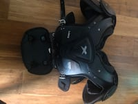 Xenith Football Shoulder Pads Senior Large With Battle backplate