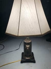 WoodTable lamp has two lion head