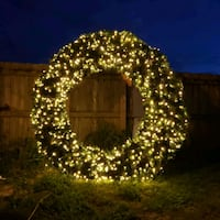 CHRISTMAS WREATH 8FT DIAMETER Cutler Bay