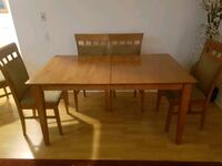 Wood table with 6 chairs  Toronto, M8Z