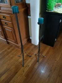 Metal Candle holders (2)