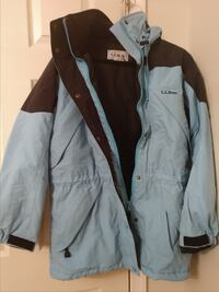 LL Bean Womens Parka Thinsulate MED $20 Red Lion