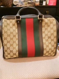 brown and black Gucci monogram tote bag Silver Spring, 20906