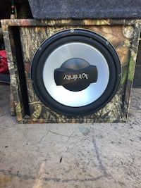 green and black real tree camouflage Infinity subwoofer speaker
