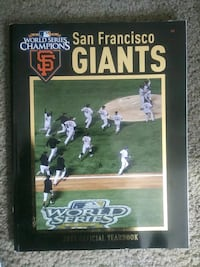 San Francisco Giants 2011 Official Yearbook South San Francisco, 94080