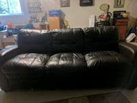 Black leather couch Delta, V4E 2W9