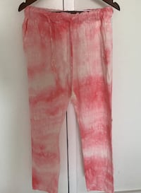 Women's casual pink tie die pants with drawstring Sunny Isles Beach, 33160