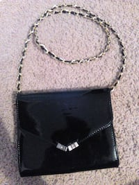 black and gray leather crossbody bag Calgary, T3E 2L6