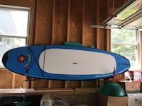 Paddle board, paddle and wall mounting. Liquid Shredder model.
