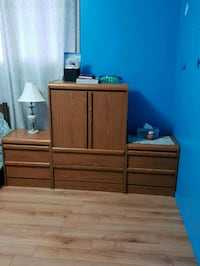 brown wooden dresser with mirror Edmonton, T5E 1C3