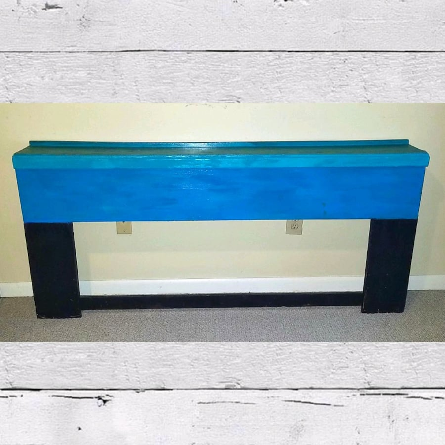 Custom painted foyer/couchback table