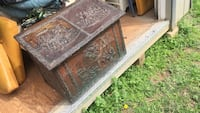 Antique brass and Wood chest made in France  Purcellville, 20132