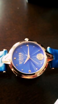 Versace versus blue dial and blue leather watch Mississauga