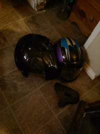 Two nice sledding helmets or motorcycle