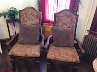 CHAIRS , DINING ROOM END CHAIRS. ASHLEY FURNITURE NORTH SHORE MODELS , ONLY USED FOR DECORATION, EXCELLENT  DETAIL Quakertown, 18951