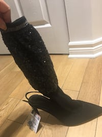 Zara black shoes with socks new 783 km
