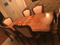 brown wooden dining table set Oklahoma City, 73013