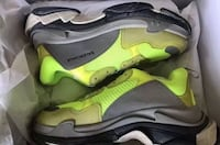 pair of gray-and-green Nike running shoes Sandy Springs, 30342
