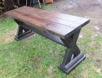 Rustic Rich X Bench Maple Ridge