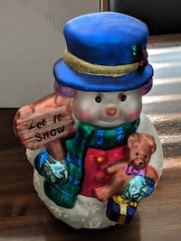 toddler's blue and red ceramic figurine Vancouver