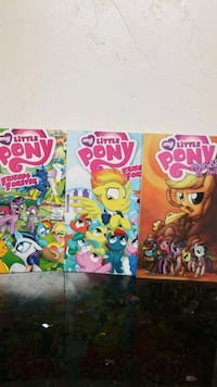 three assorted My Little pony comic books Campbell