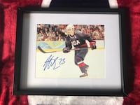 Dustin Brown signed and framed photo Châteauguay, J6K 2M7