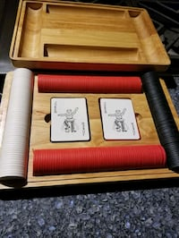 Poker card and chips set