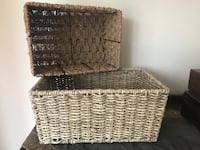 Seagrass and wire storage baskets   Ottawa, K2S 1C9